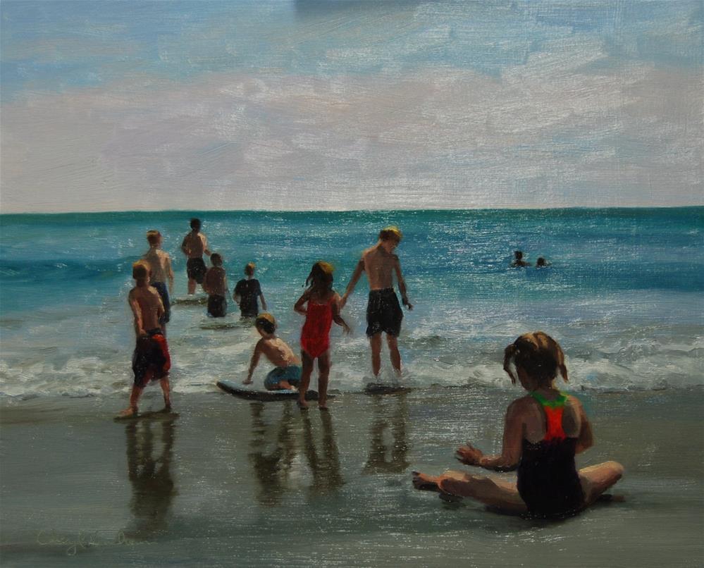 """Chelsea on the Beach"" original fine art by Cheryl Meehan"