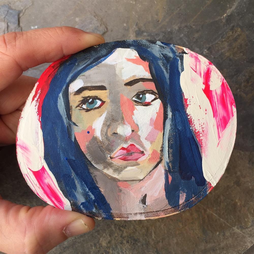 """140 Girl on Birch"" original fine art by Jenny Doh"