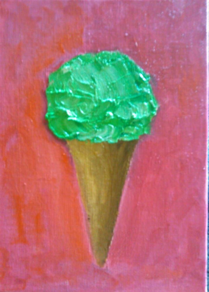"""We all scream for Ice Cream"" original fine art by Gerri Obrecht"