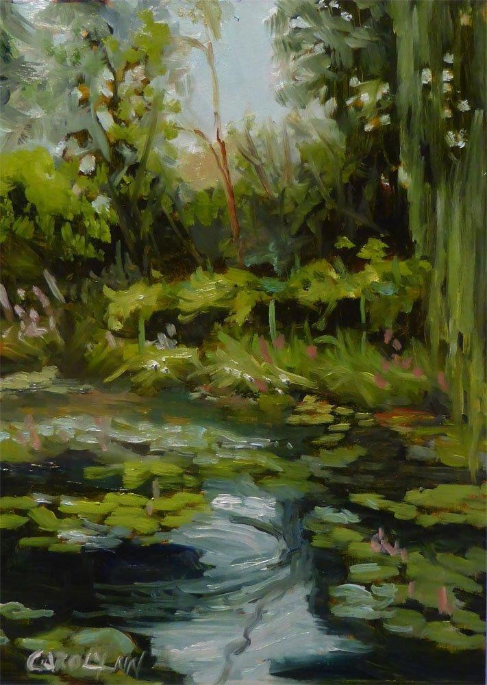 """""""Pond At Giverny"""" original fine art by Carolynn Doan"""