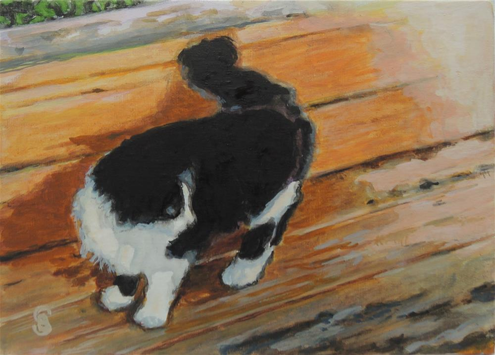 """The Greeter"" original fine art by Belinda Scheber"