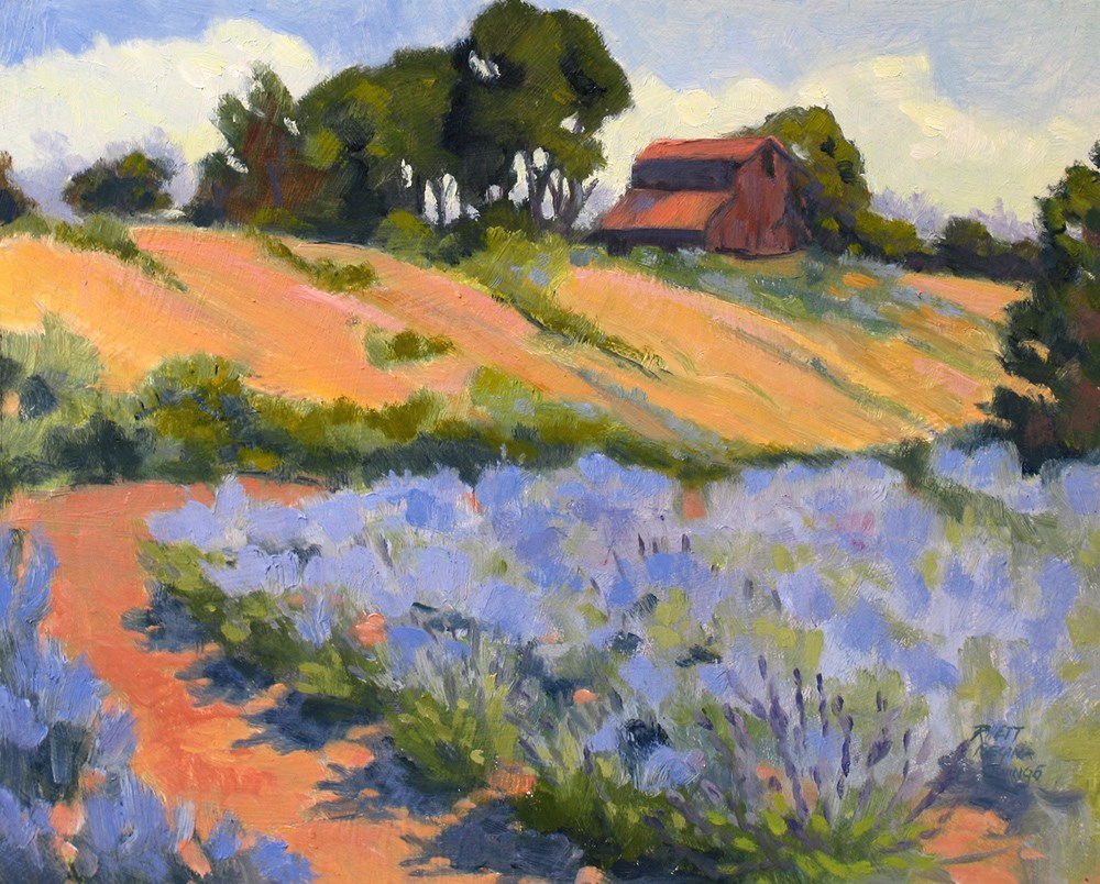 """Lavender Hollow Farm"" original fine art by Rhett Regina Owings"