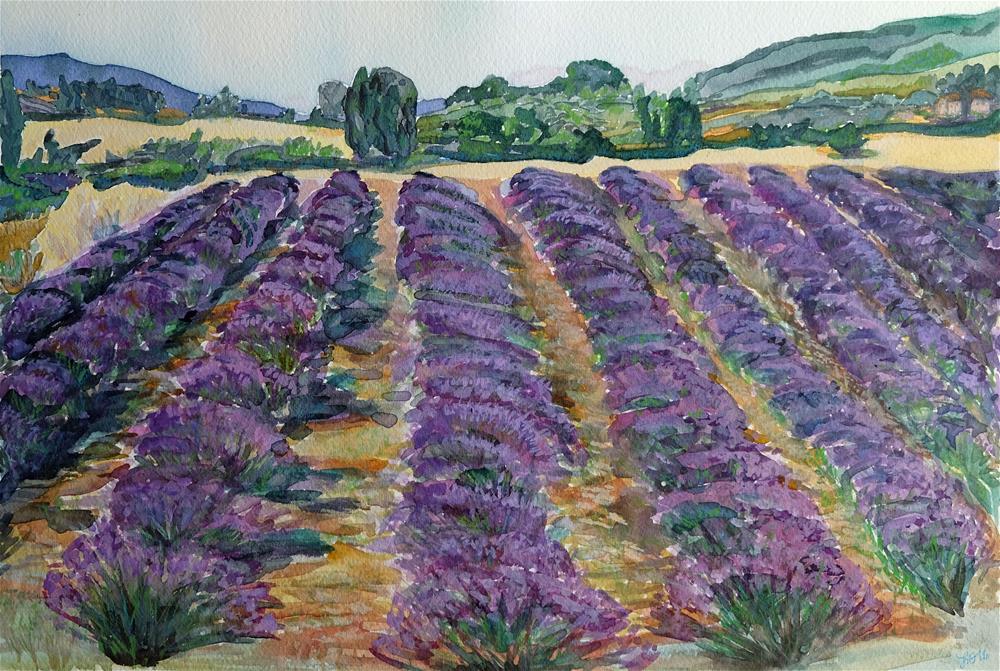 """Lavender Waves"" original fine art by Laura Denning"