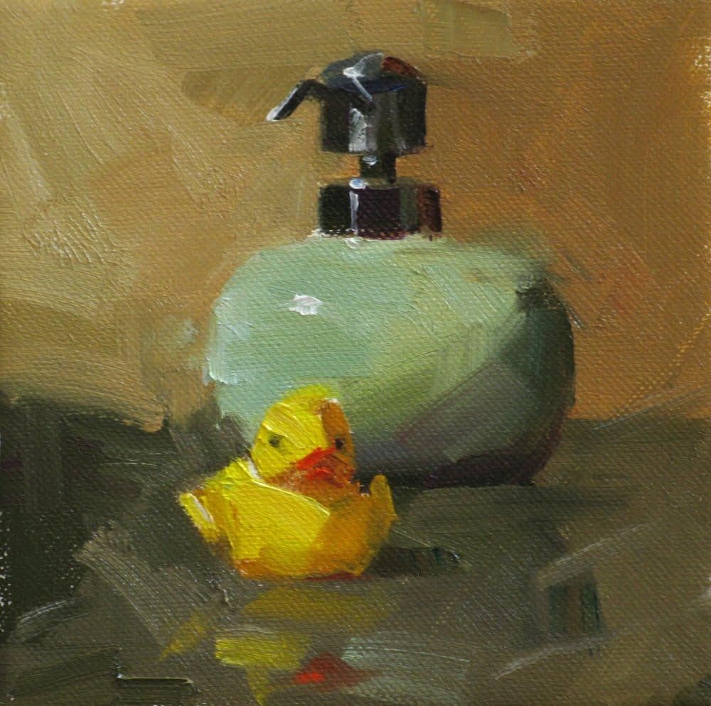"""Make Me Clean"" original fine art by Qiang Huang"