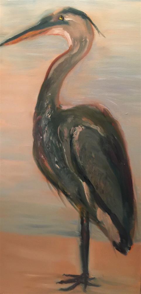 """Blue Heron"" original fine art by Laura Darnell"