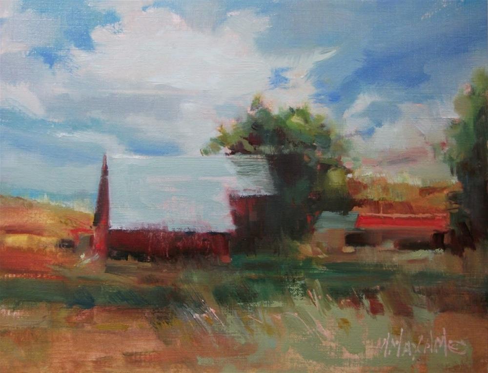 """""""Idaho Barn"""" original fine art by Mary Maxam"""