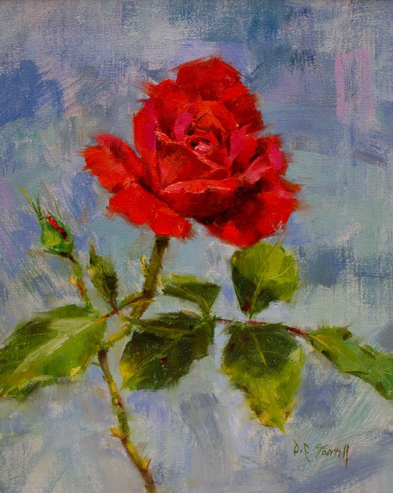 """In Mom's Garden #2"" original fine art by Donna C Farrell"