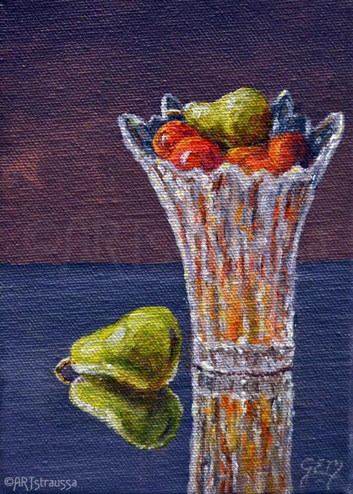 """Fruity Vase (Charity)"" original fine art by Gloria Ester"
