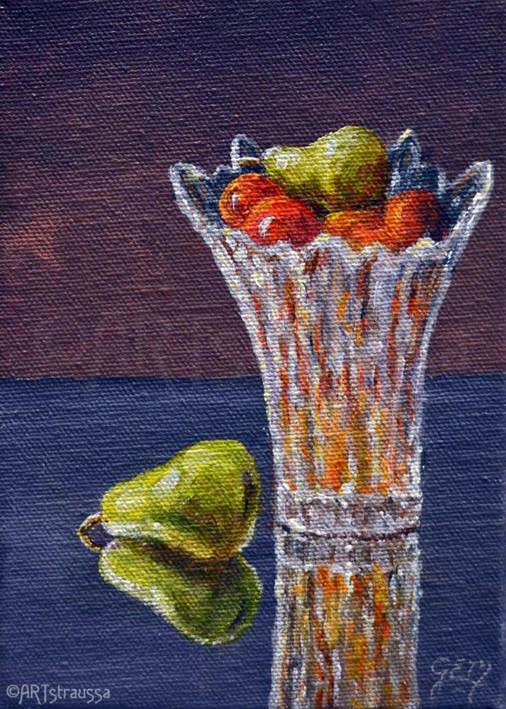 """Fruity Vase (Charity)"" original fine art by Gloria Ester"