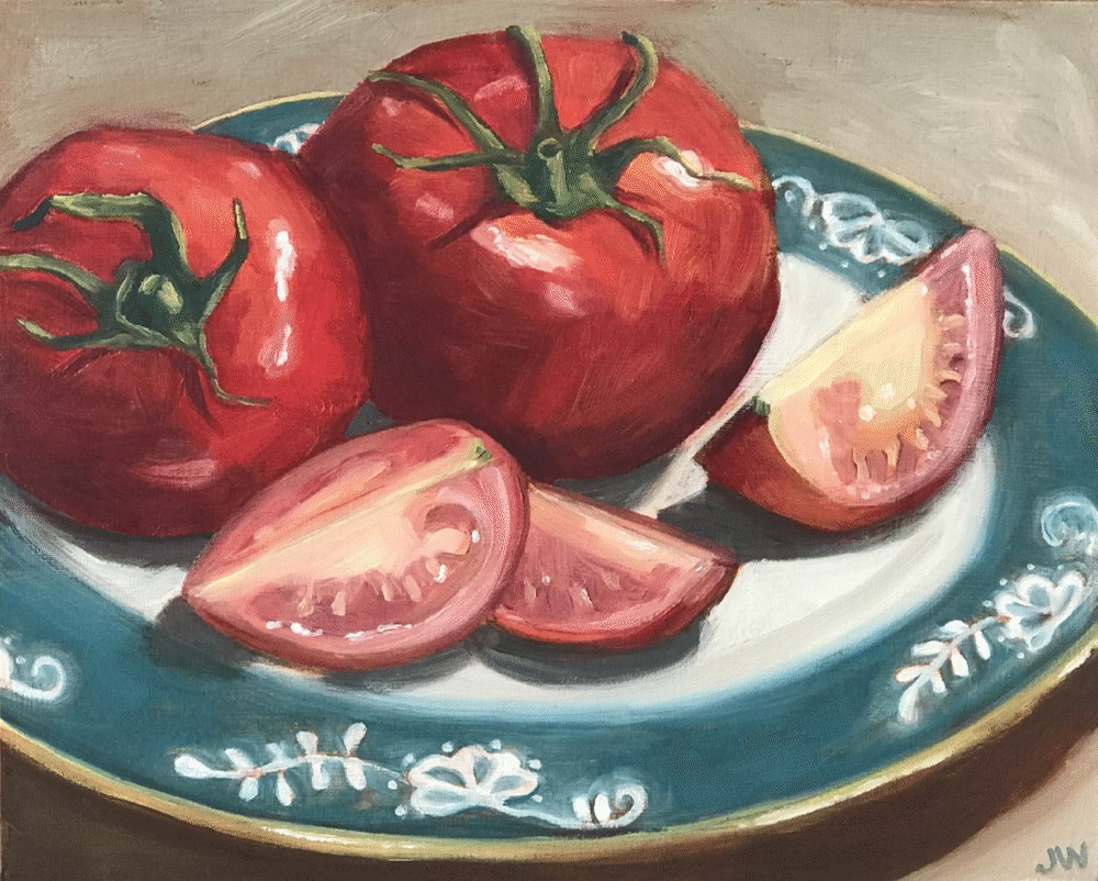 """Tomato Tomahto"" original fine art by Jaime Wickstrom"