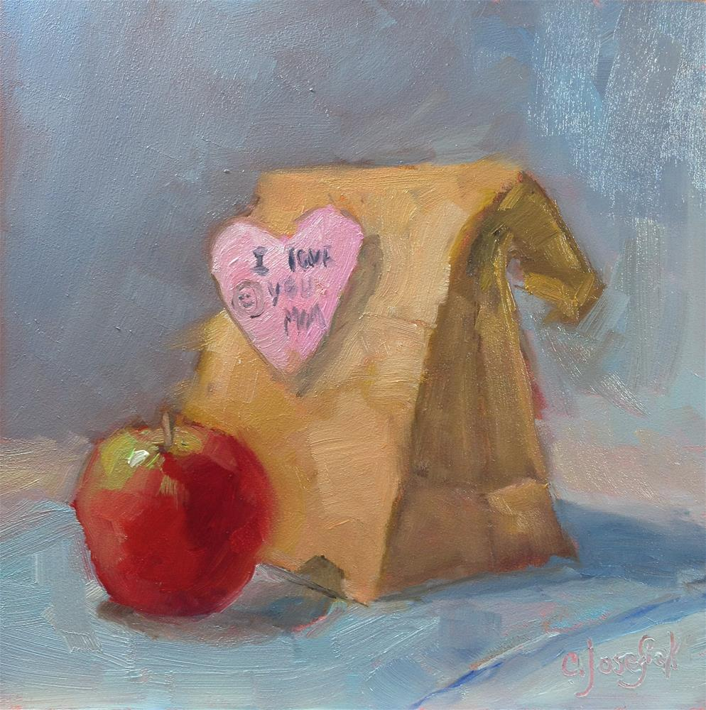 """Mom packed my lunch"" original fine art by Carol Josefiak"