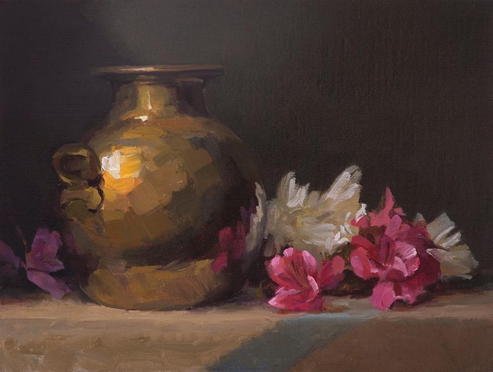 """Hide and Seek"" original fine art by Miriam Hill"