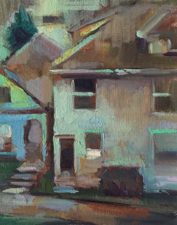 """Grey Day Colorplay"" original fine art by Patti McNutt"