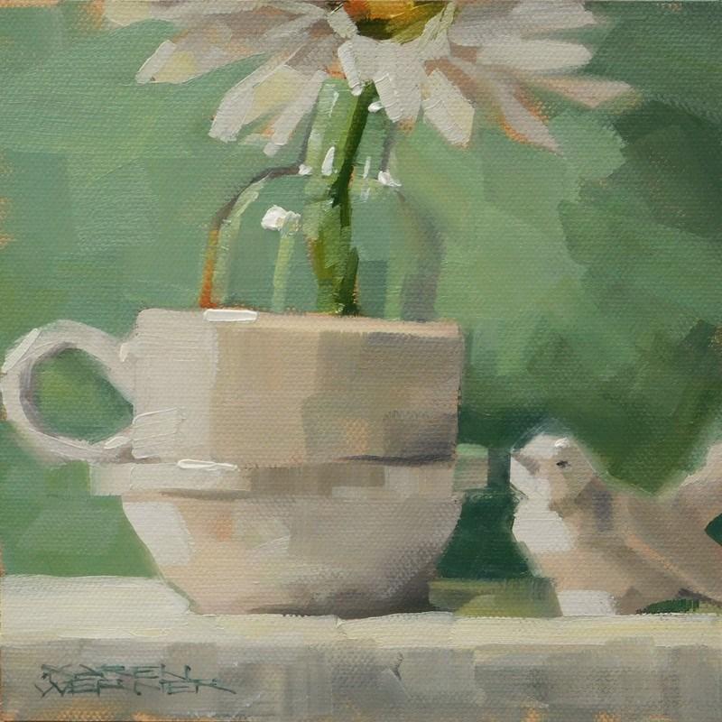 """""""Minty"""" original fine art by Karen Werner"""