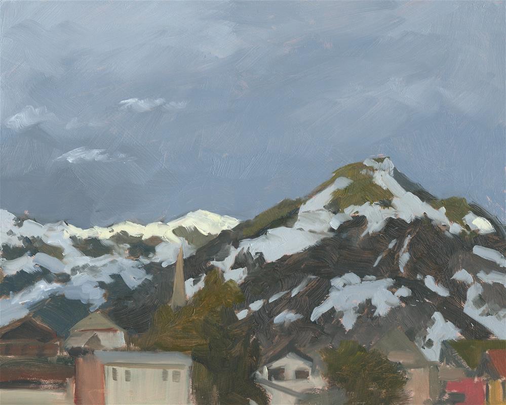 """East from Kaprun, late afternoon."" original fine art by Graham Townsend"