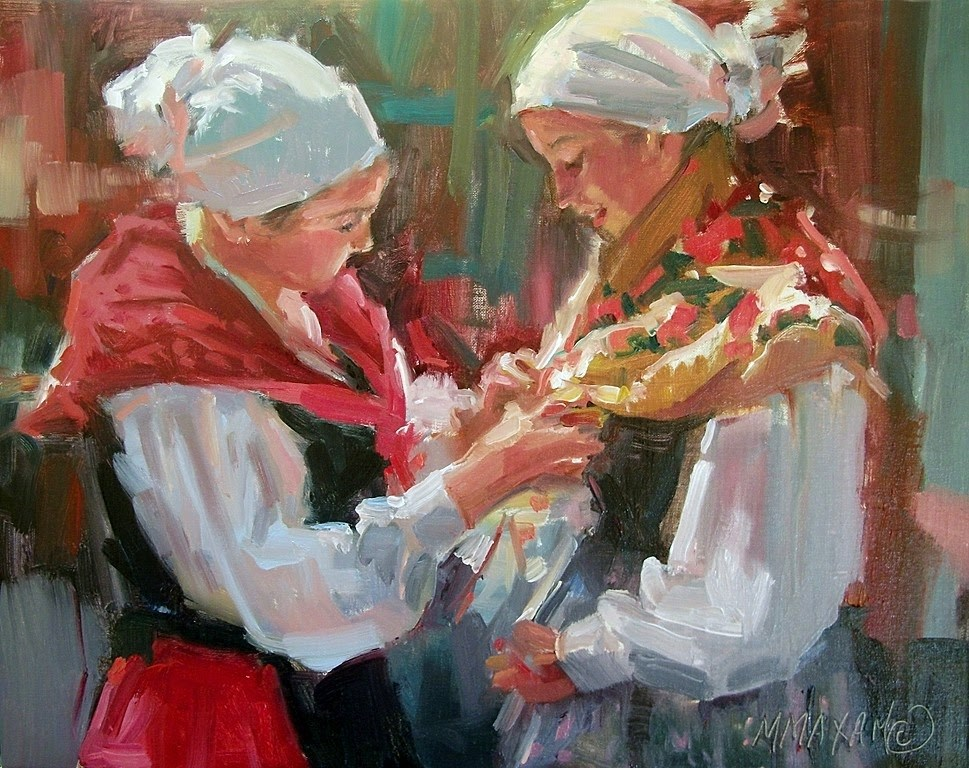 """""""Preparing To Dance II"""" original fine art by Mary Maxam"""
