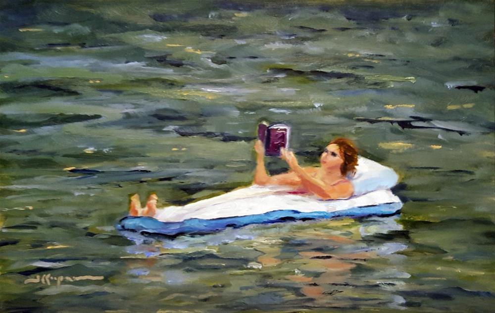"""""""Better Than The Library"""" original fine art by Shelley Koopmann"""