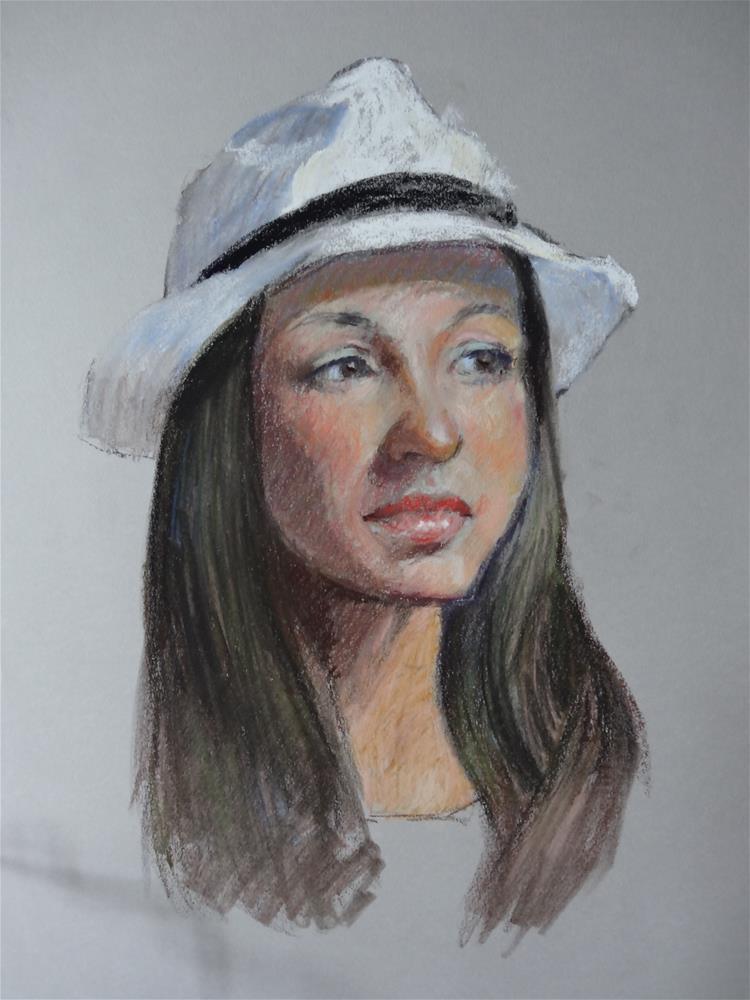 """""""Confident"""" original fine art by Jini James"""