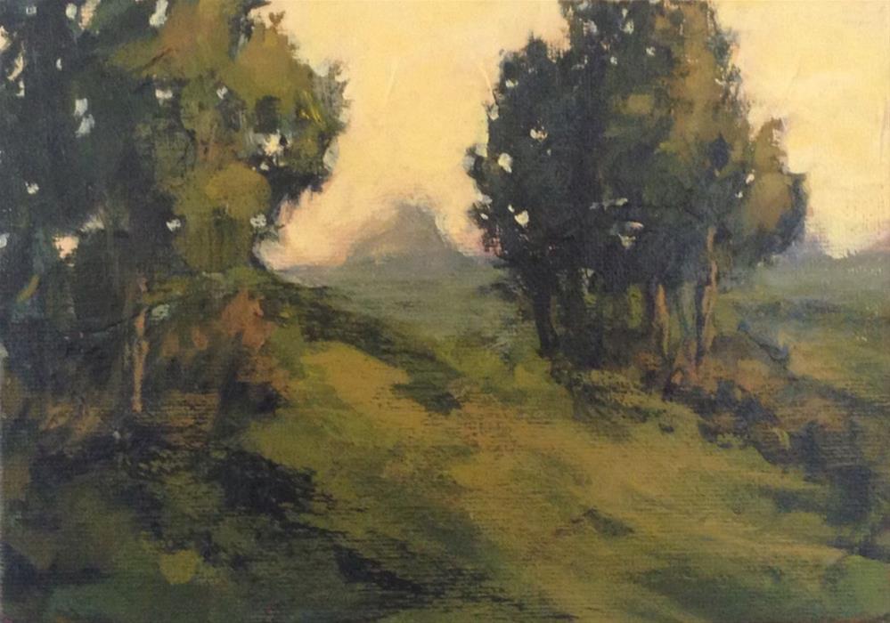"""Sleepy Hillside"" original fine art by Shannon Bauer"