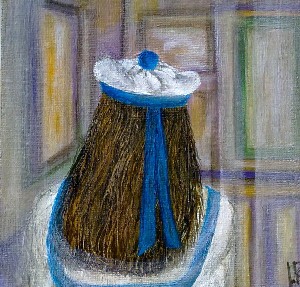 """""""Alice in the Museum"""" original fine art by Monica Pinotti"""