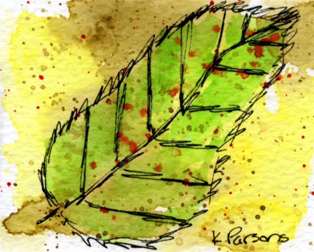 """The Leaf"" original fine art by Kali Parsons"