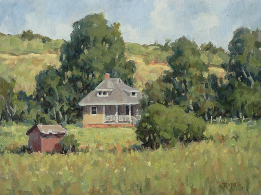 """DAY 22: Old Biltmore Farmhouse"" original fine art by Stuart Roper"