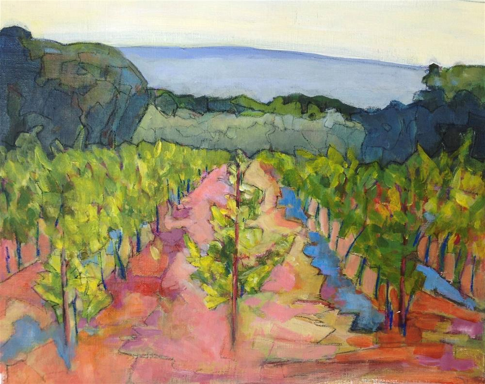 """Les Bassacs Vineyard"" original fine art by Patricia MacDonald"