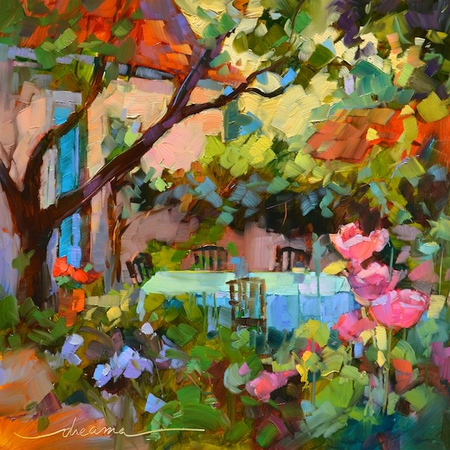 """""""LIFT OFF and Dream Time in the Garden"""" original fine art by Dreama Tolle Perry"""