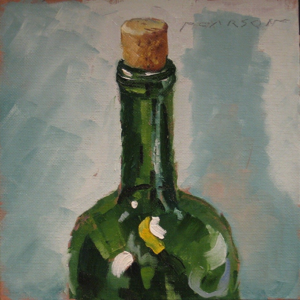 """Wine Bottle #1"" original fine art by Dennis Pearson"