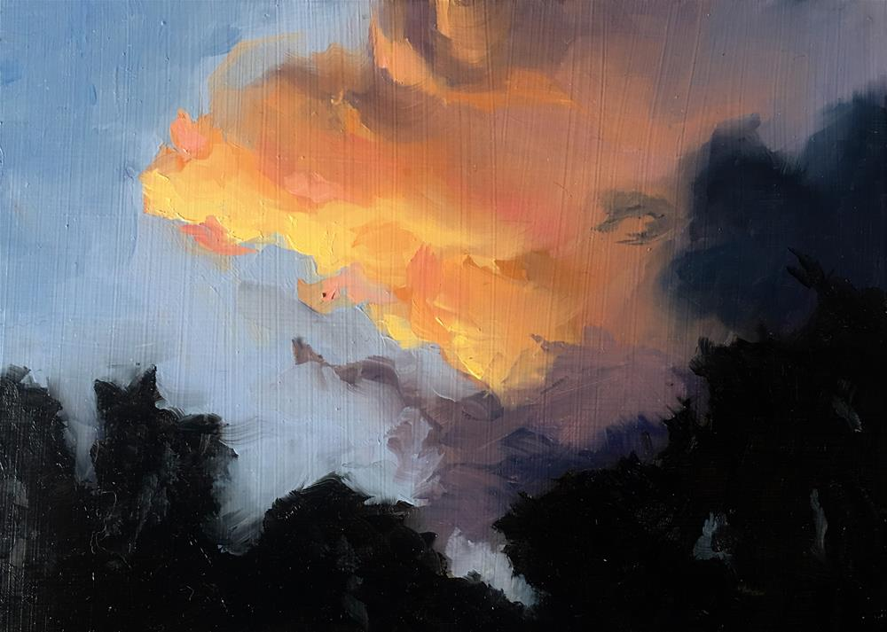 """Texan Sunset"" original fine art by Van DeGoede"