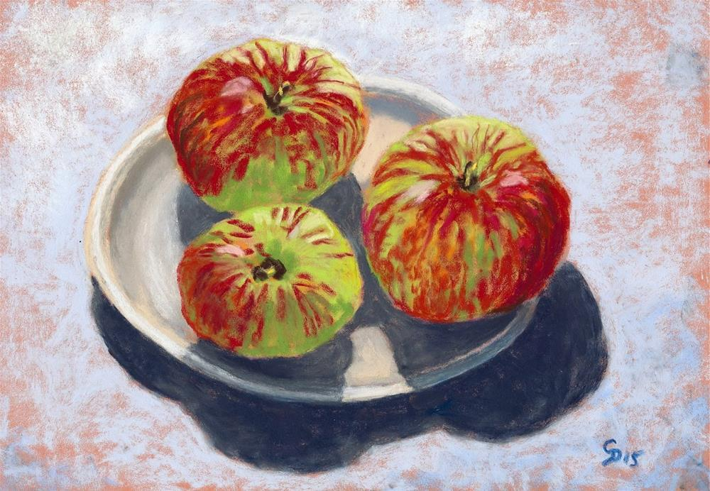 """Sunshine Apples"" original fine art by Christine Derrick"