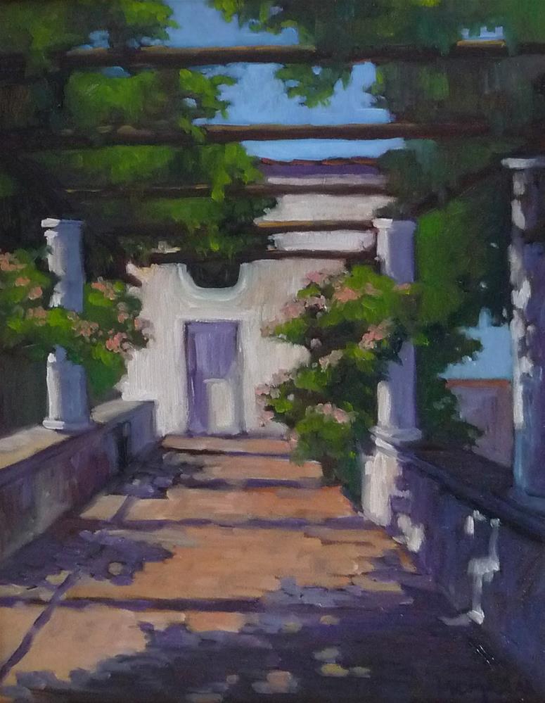 """Capri Loggia"" original fine art by Lisa Kyle"