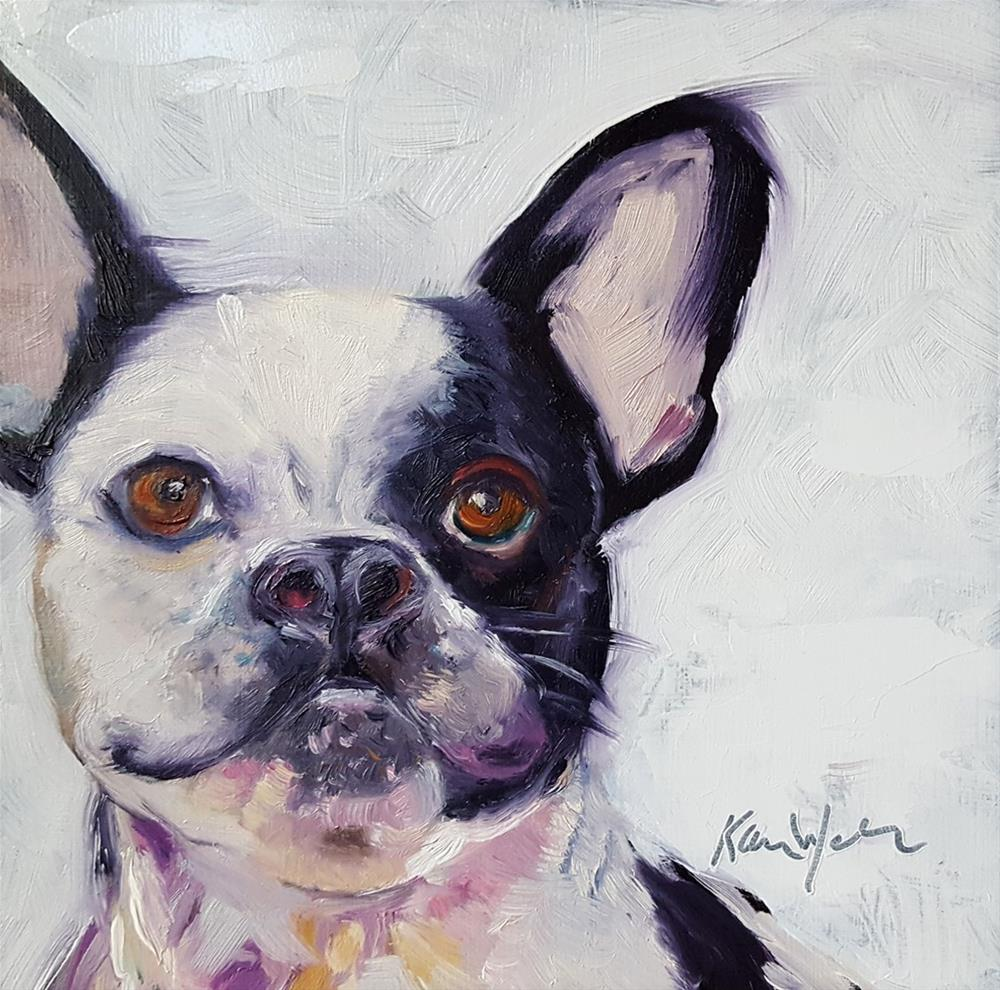 """""""Frenchie Smile"""" original fine art by Karen Weber"""
