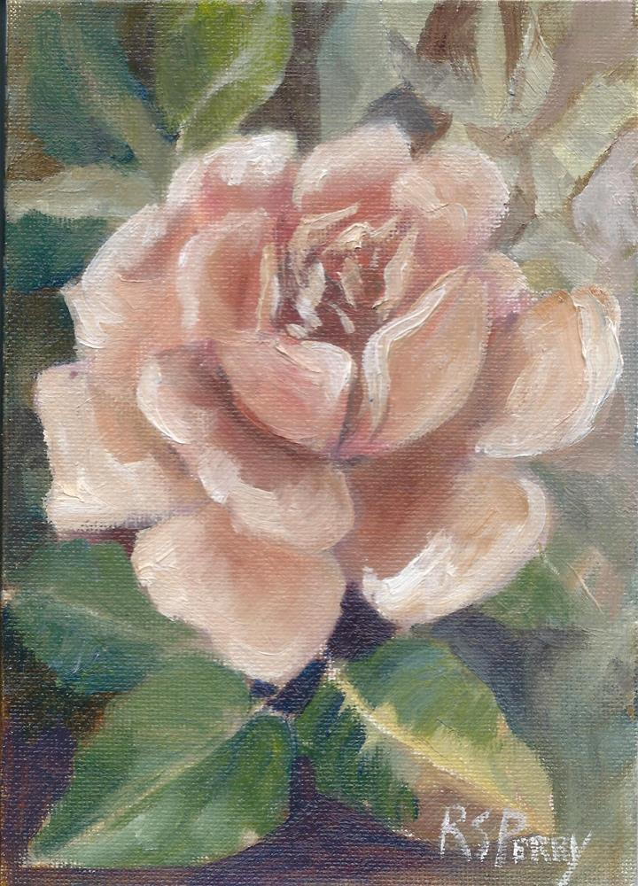 """""""One Glorious Rose"""" original fine art by R. S. Perry"""