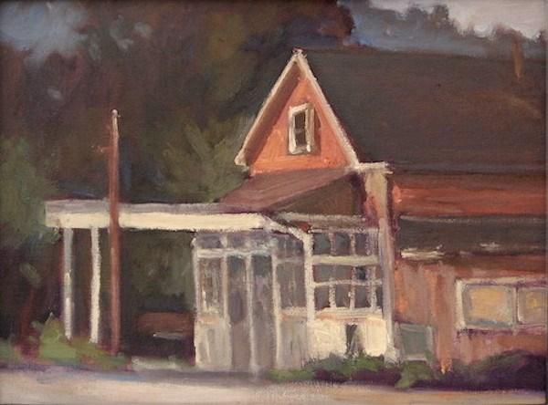 """Old Stage Station"" original fine art by Edwin Bertolet"
