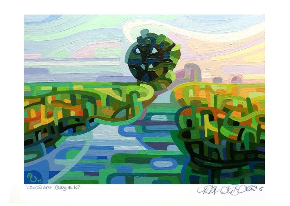 """Landscape Study #67"" original fine art by Mandy Budan"