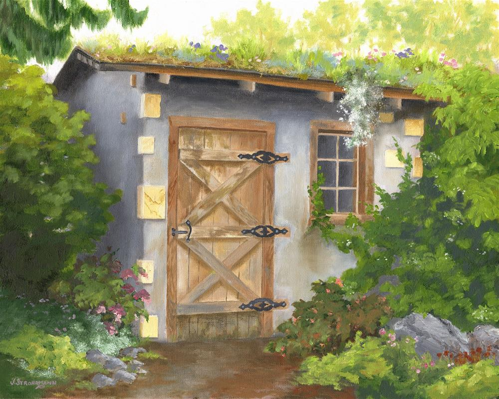 """""""Corner of the Garden"""" original fine art by Jeanne Strohrmann"""