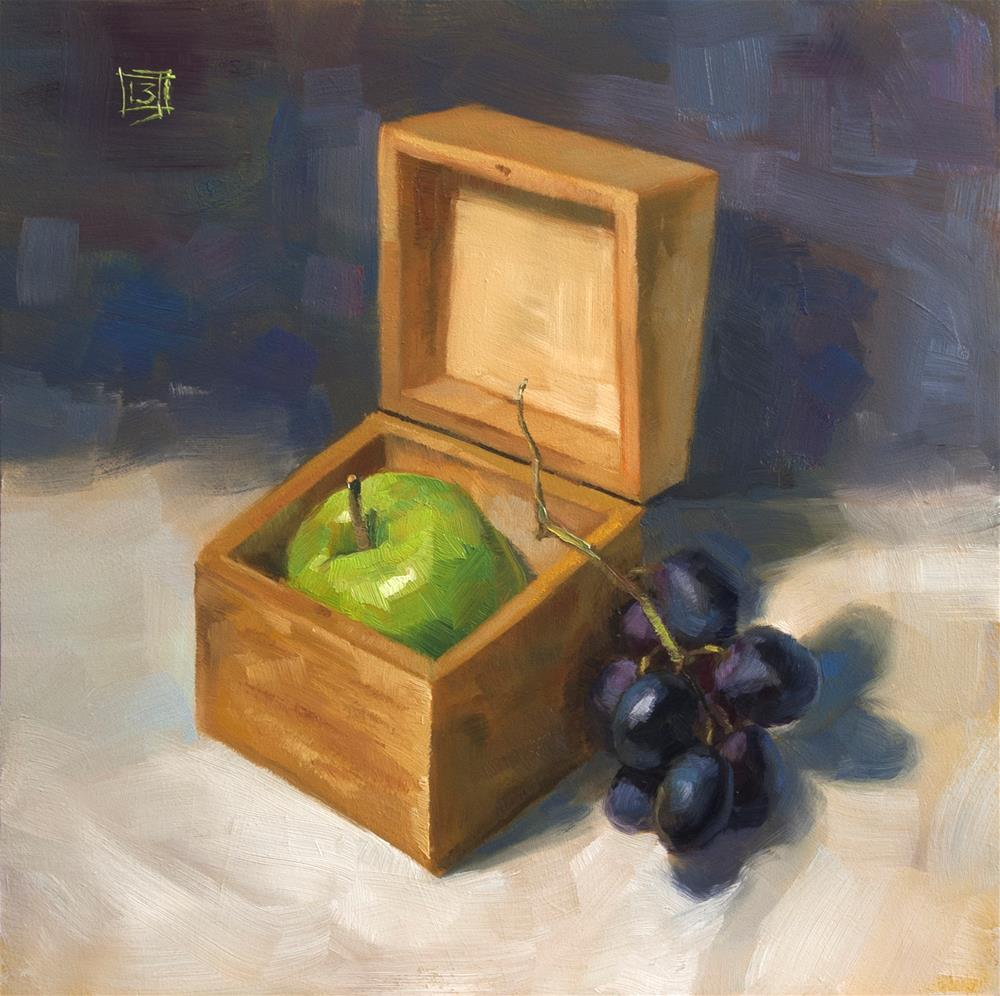"""Boxed"" original fine art by Johan Derycke"