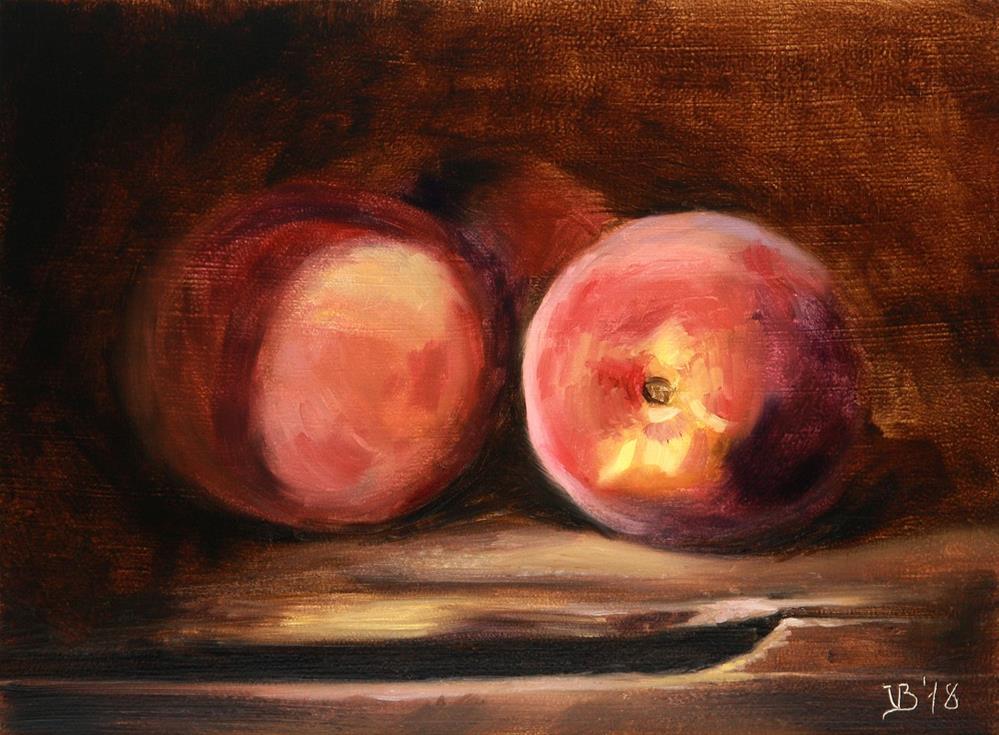 """Fresh Local Peaches"" original fine art by Vitaly Borisenko"