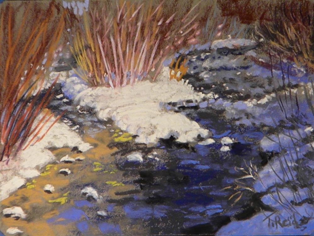 """""""Snow on twin creek"""" original fine art by Toby Reid"""