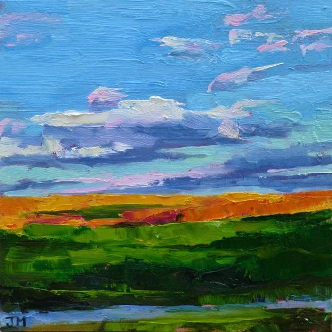 """Croton Point, Evening"" original fine art by Jessica Miller"
