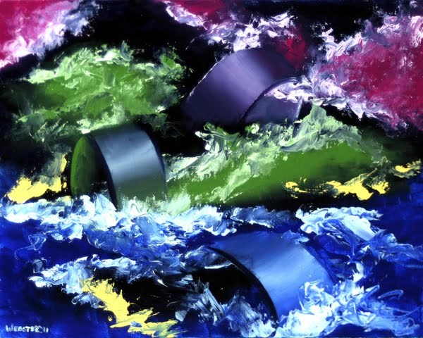 """""""Mark Webster - Abstraction 7 - Abstract Oil Painting"""" original fine art by Mark Webster"""