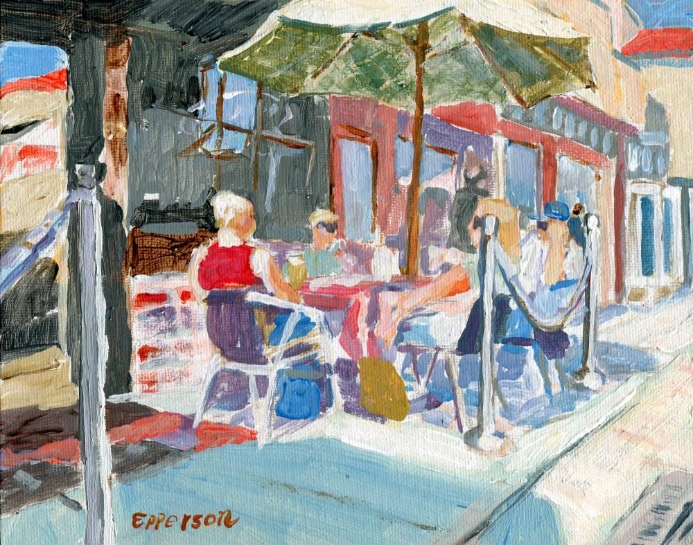 """Boulevard Stop"" original fine art by Stanley Epperson"