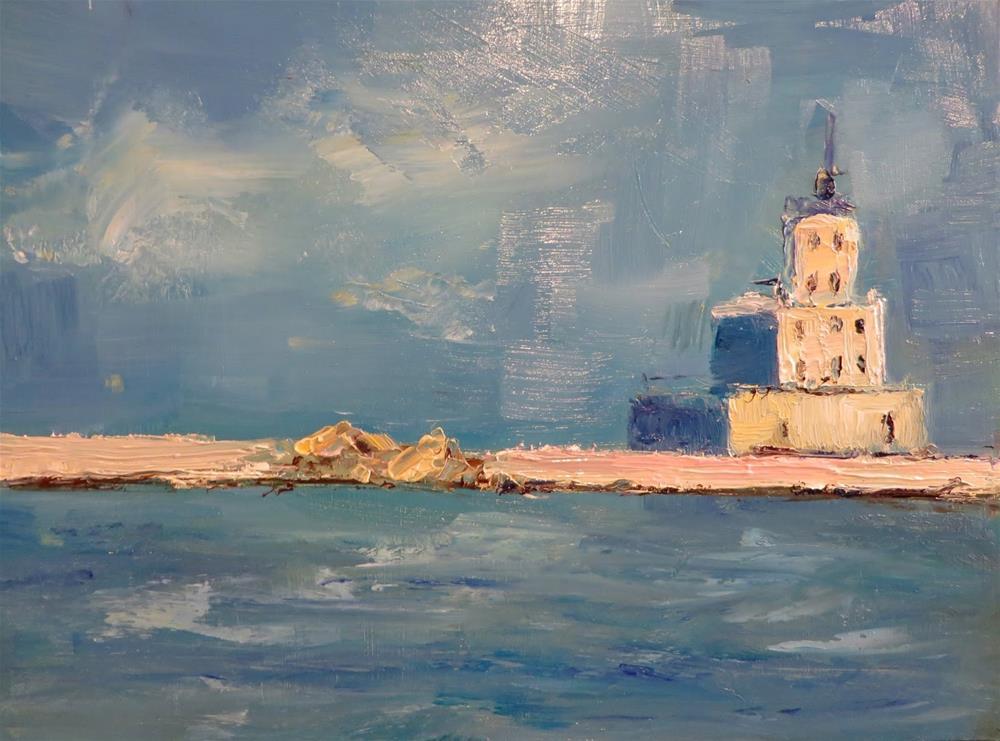 """630 Center Gap Lighthouse, Milwaukee"" original fine art by Diane Campion"