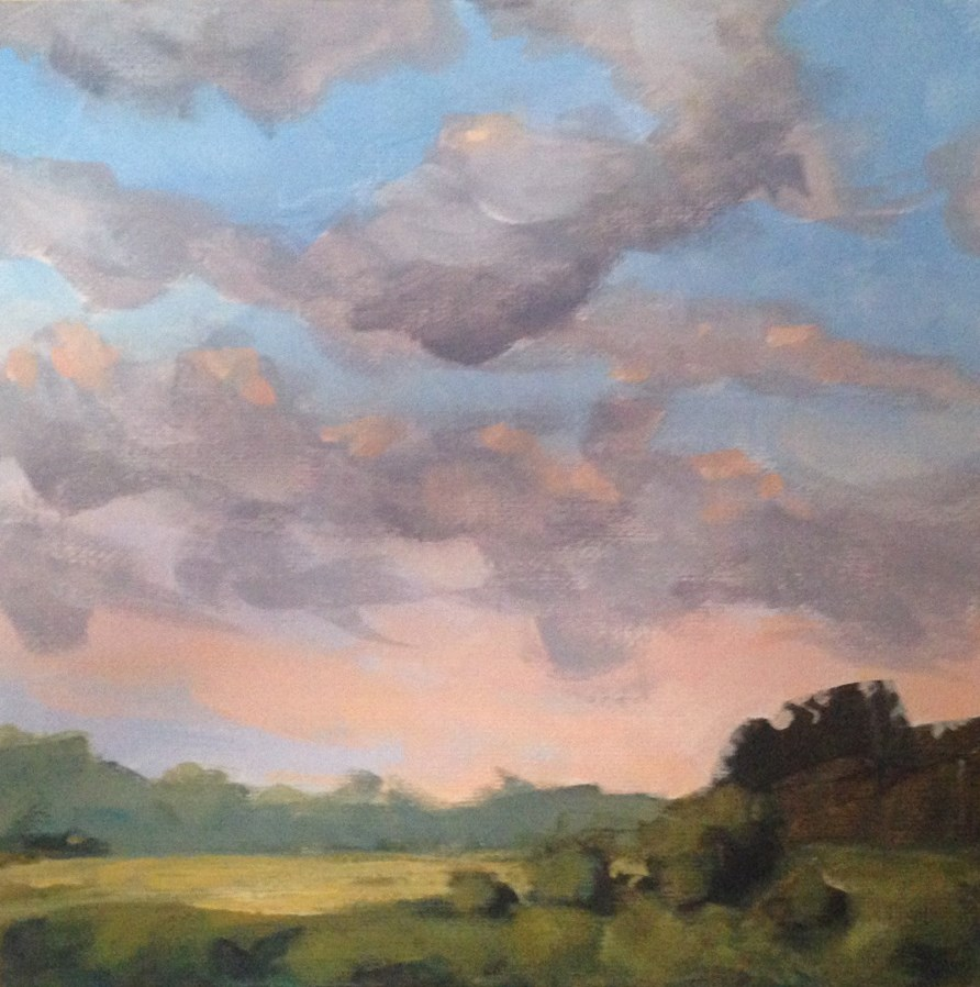 """Clouds Over Indiana"" original fine art by Shannon Bauer"