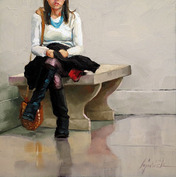 """Tute Boots"" original fine art by Karin Jurick"