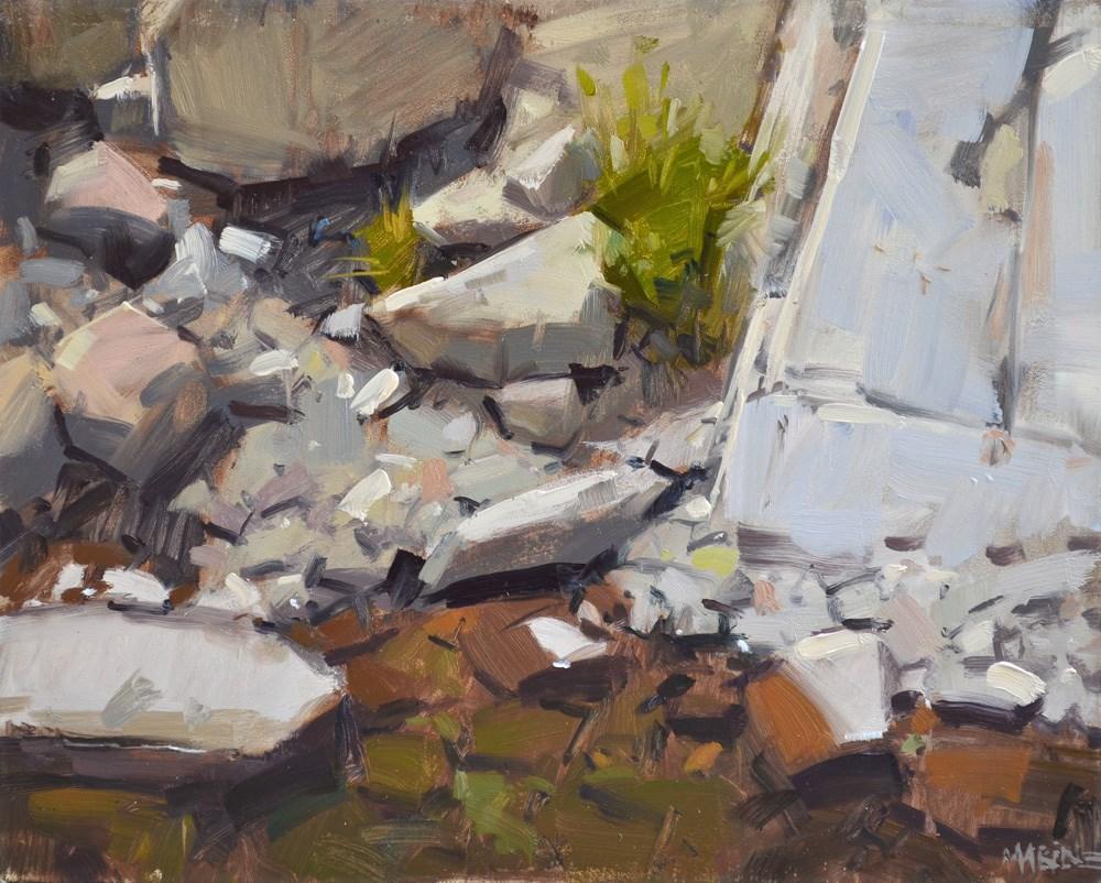 """Waterside"" original fine art by Carol Marine"