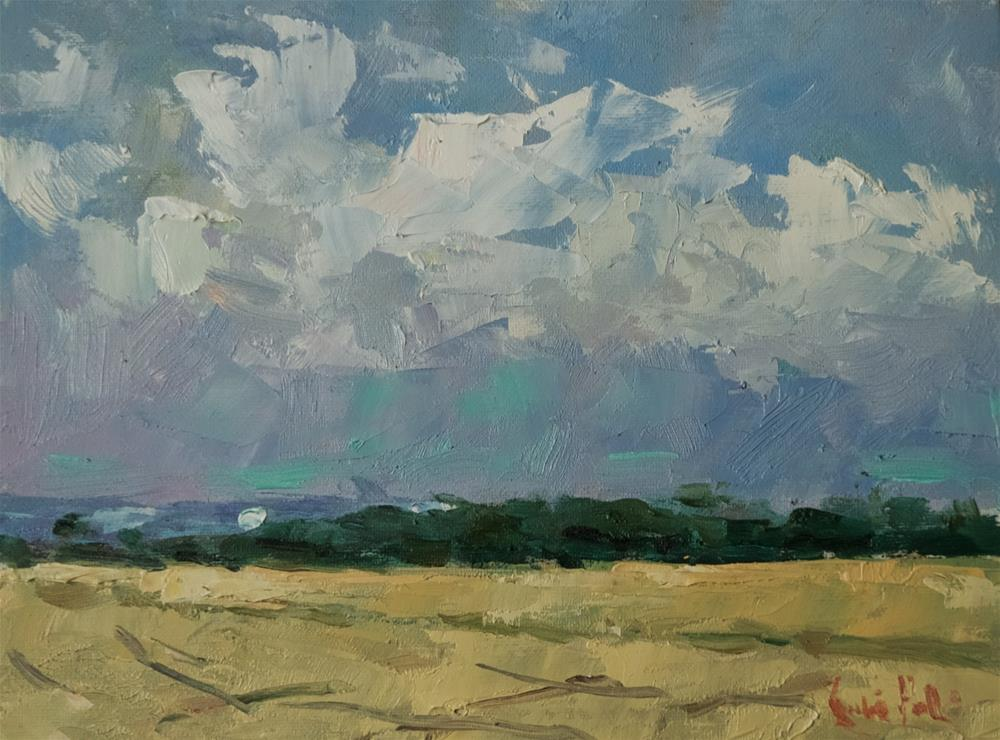 """""""Skyscape at Climping"""" original fine art by Andre Pallat"""