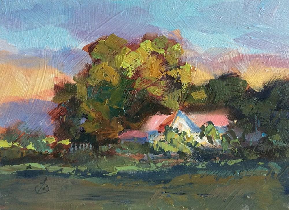 """MORNING LIGHT"" original fine art by Tom Brown"