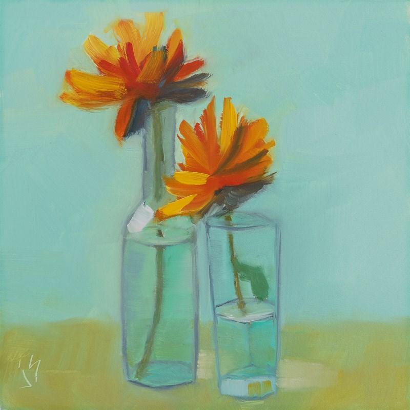 """""""Simple Flowers"""" original fine art by Johnna Schelling"""